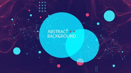 Wireframe background with plexus effect. Futuristic vector illustration.