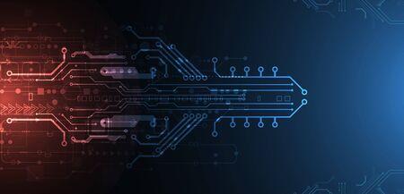 Placa de circuito de tecnología abstracta. Concepto de comunicación.