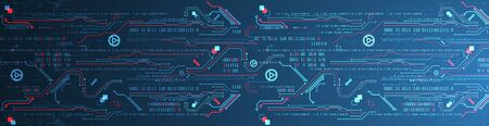 Abstract technology concept. Computer code background. Vector illustration