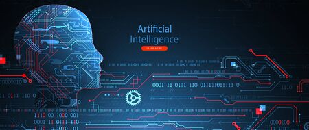 Artificial intelligence concept. Technology background. Vector science illustration
