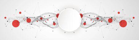 Trendy fluid cover design with plexus effect. Ilustrace