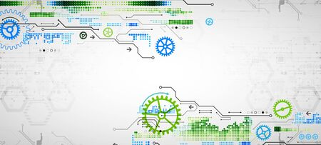 Modern futuristic, engineering, science, technology vector background. Circuit board. Vettoriali