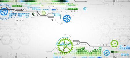 Modern futuristic, engineering, science, technology vector background. Circuit board. Vektorové ilustrace