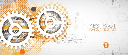 Modern futuristic, engineering, science, technology vector background. Vector Illustratie
