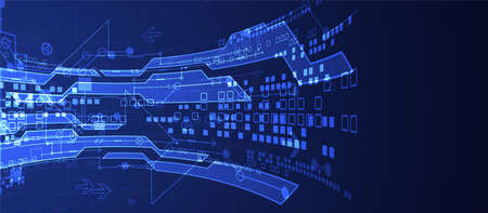 Vector illustration, Hi-tech digital technology and engineering background