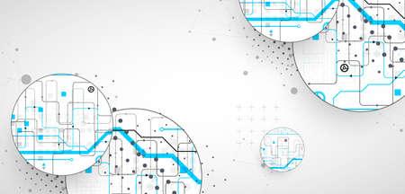 Abstract technology background. Communication concept, futuristic digital innovation art background. Vector illustration Vektorgrafik