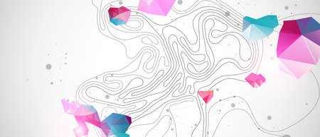 Vector abstract landscape geodesy topography map background. Art Line texture pattern.