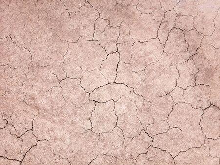 Le sol a des fissures dans la vue de dessus pour l'arrière-plan ou la conception graphique avec le concept de sécheresse et de mort.
