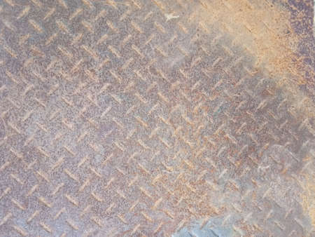 Steel floor with embossed patterns for graphic or wallpaper design.