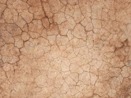 The ground has cracks in the top view for the background or graphic design with the concept of drought and death. Standard-Bild