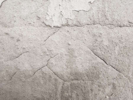 Cracked concrete wall texture, Cement background not painted in vintage style for graphic design or retro wallpaper