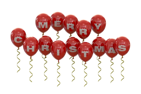 red balloons: Christmas  red balloons