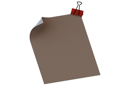 note paper: Red clip and  note paper Stock Photo