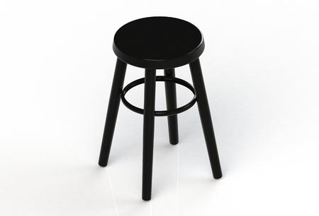 black: Black chair
