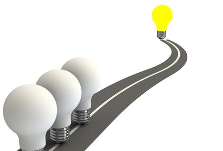 glowing light bulb: Glowing light bulb