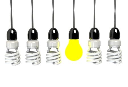 artistic photography: Inspiration concept illuminated light bulb metaphor for good idea