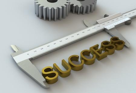 vernier caliper: SUCCESS, message on vernier caliper