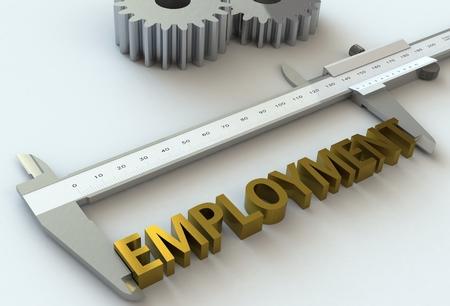 vernier caliper: EMPLOYMENT, message on vernier caliper, 3D rendering
