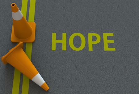 hope: Hope, message on the road