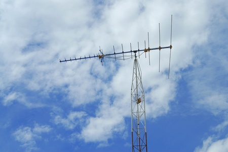 The television antenna for analog signal Stock Photo - 13220786