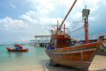 Fishing boat at Koh Si chang Thailand