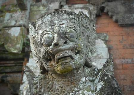 traditional balinese statue on  bali, indonesia Stock Photo