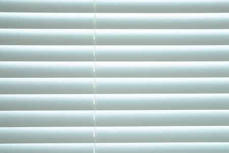 White closed blinds. photo