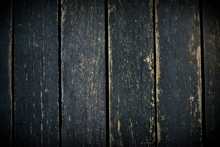 old wood background with black color paint