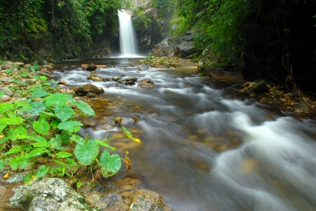 Klongphot waterfall  in the forest of Thailand photo