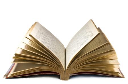 흰 배경에 고립 펼친 책 스톡 콘텐츠 - 14373913