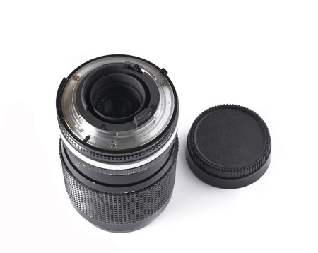 old camera lens  on  white background Stock Photo - 14620369