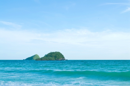 Island in  sea at thailand Stock Photo