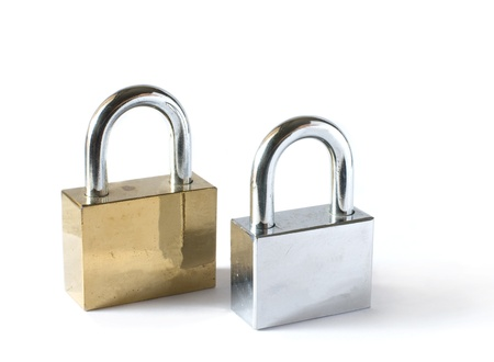 padlocks isolated on white background Stock Photo - 15305448