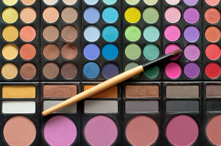 makeup brushes and cosmetics  palette photo