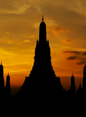 wat arun after sunset,thailand photo