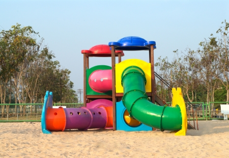 colorful playground in park  photo