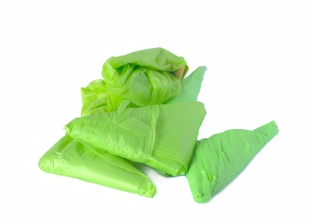 stack of plastic bags for reuse Stock Photo