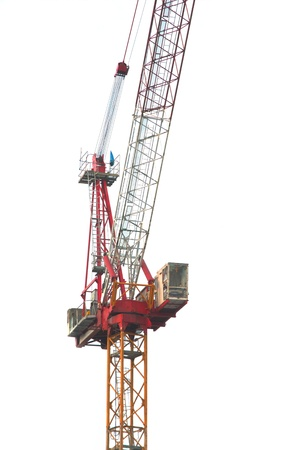 construction crane on white background  photo