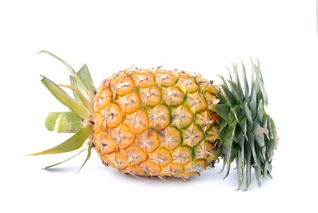 Pineapple on white background. photo