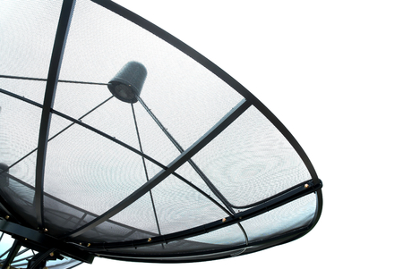 Satellite dish on white background  photo