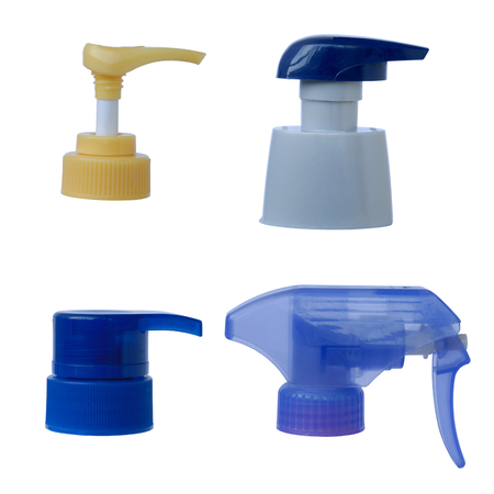collection of pressing pump bottle of liquid photo