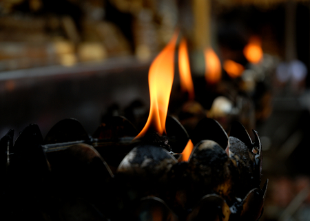 oillamp: flame from oil lamps