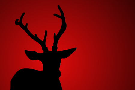 deer head silhouette photo