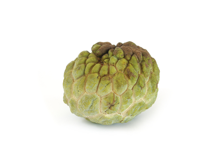 sweetsop: sugar apple (custard apple, Annona, sweetsop) on white background