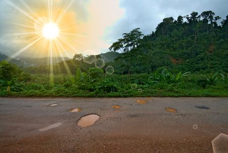 bumpy: Bumpy road in the countryside Stock Photo