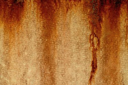 rusty on fiber cement surface