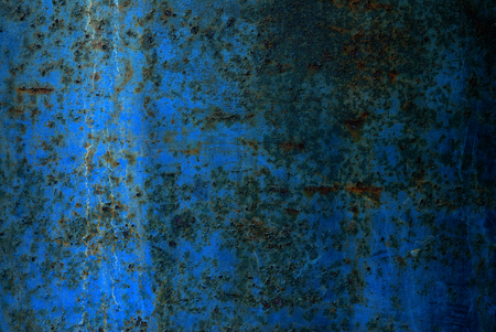 texture of old blue metal plate