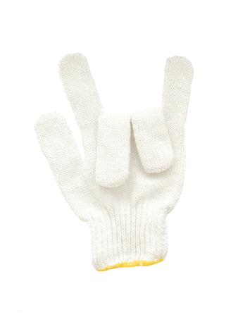 cotton gloves isolated on white background, symbol of love