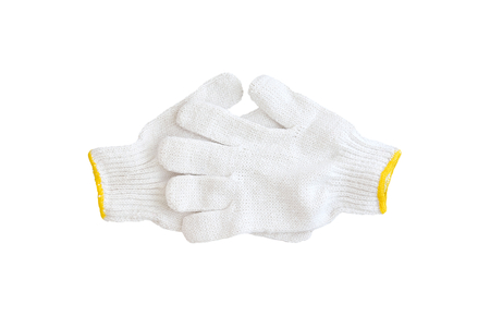 cotton gloves isolated on white background