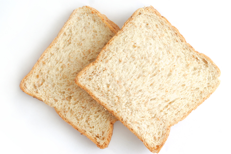 slice bread isolated on white background